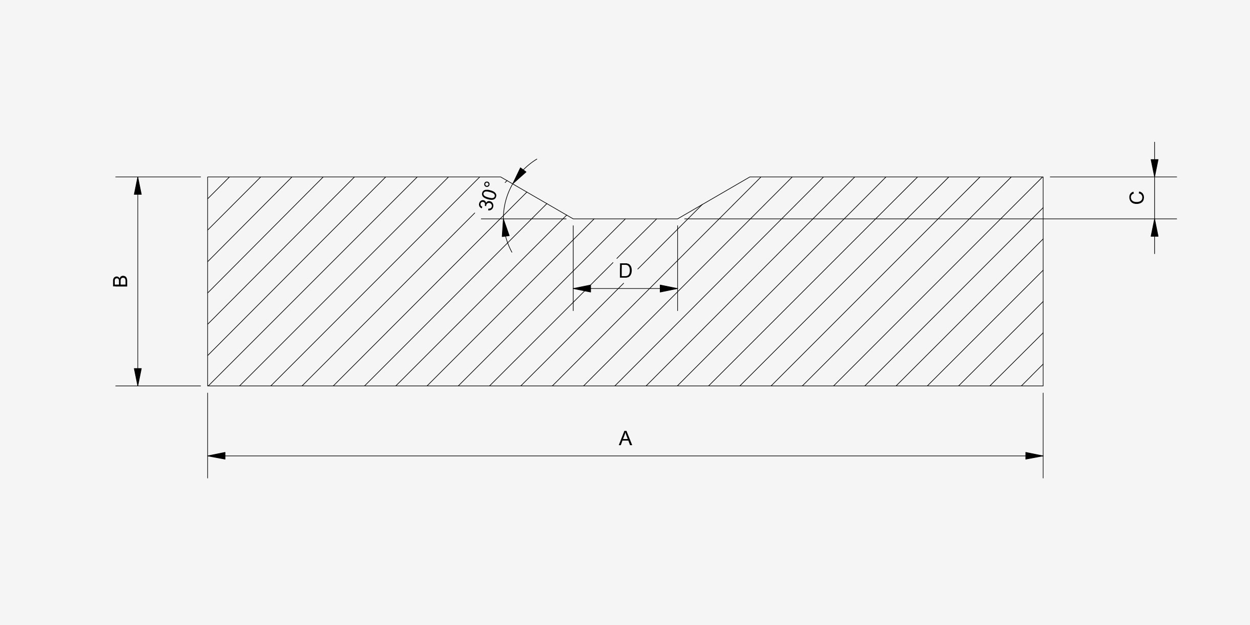 Grooved manganese wear - drawing